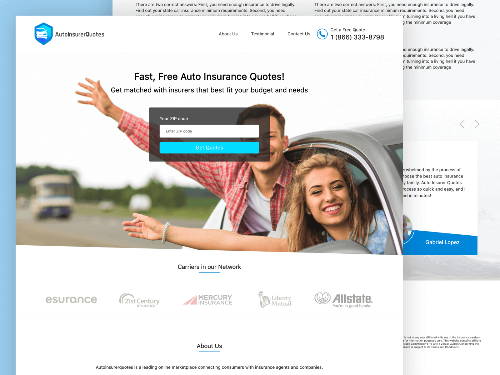 auto-insurer-website