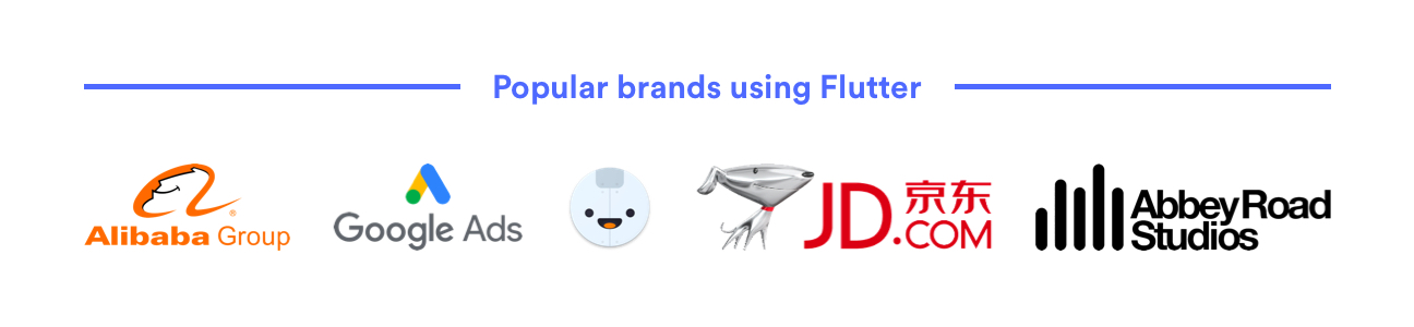 Popular brands using Flutter