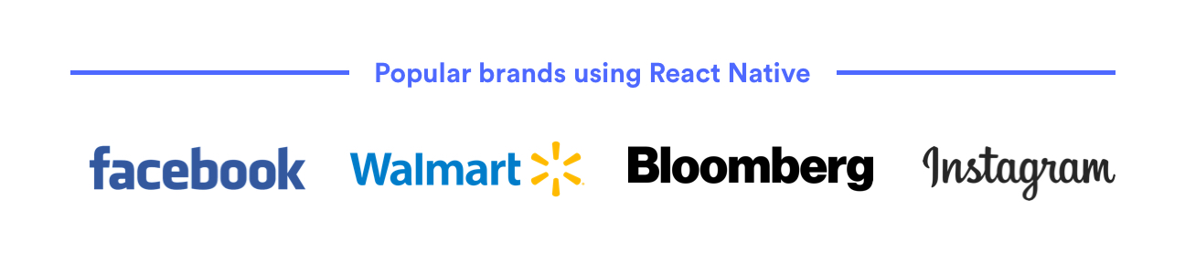 Popular brands using React Native