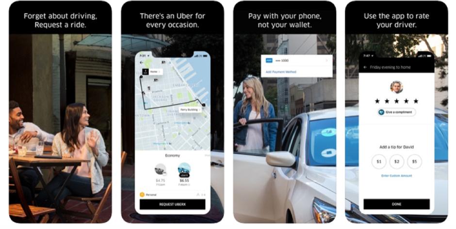 Uber - App Store Screenshots